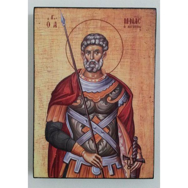 """Saint Menas, Christian Icon 8x6"""" (21x15cm) - Artastate"""