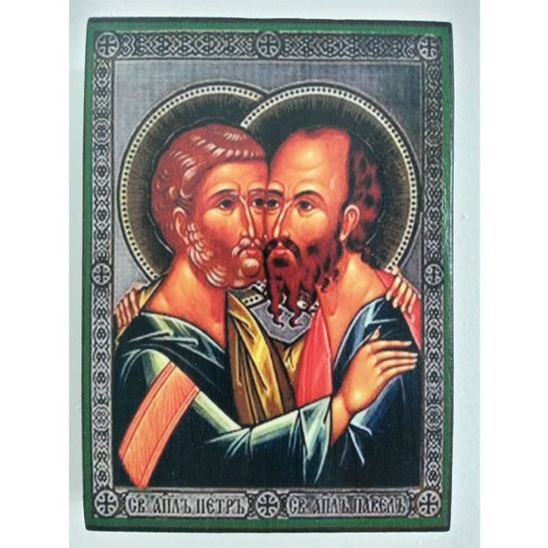 """Peter and Paul, Christian Icon 4x3"""" (11x8cm) - Artastate"""