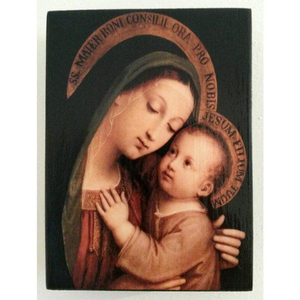 "Holy Virgin Mary, Christian Icon 4x3"" (11x8cm) - Artastate"