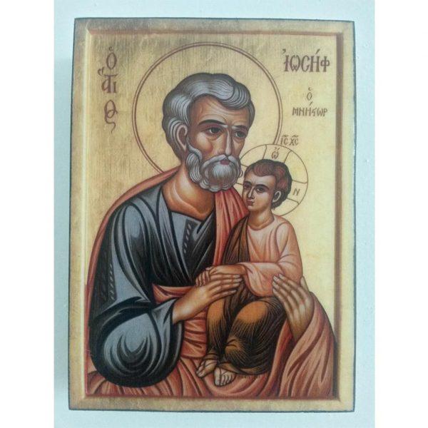 "Saint Joseph, Christian Icon 4x3"" (11x8cm) - Artastate"