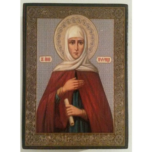 "Saint Anna, Christian Icon 4x3"" (11x8cm) - Artastate"