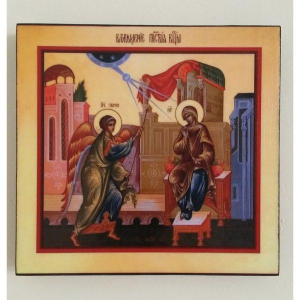 """Annunciation, Christian Icon 6x6"""" (16x15cm) - Artastate"""