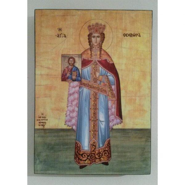 """Saint Theodora"" Christian Icon 8x6"" (21x15cm)"