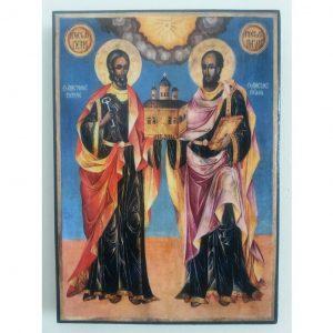 """Saints Peter and Paul"" Christian Icon 8x6"" (21x15cm)"