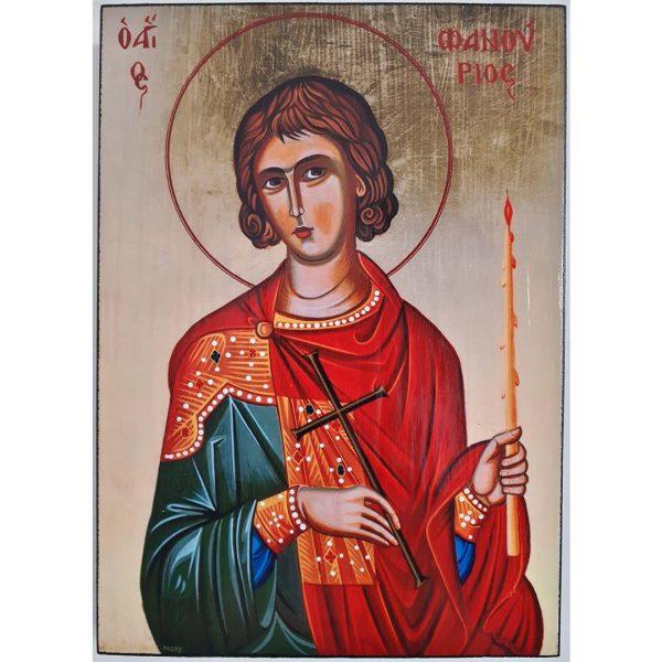 """Saint Phanourios, Christian Icon 8x6"""" (21x15cm)"""