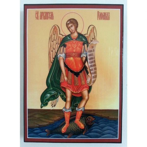 """Saint Raphael"" Christian Icon 8x6"" (21x15cm)"
