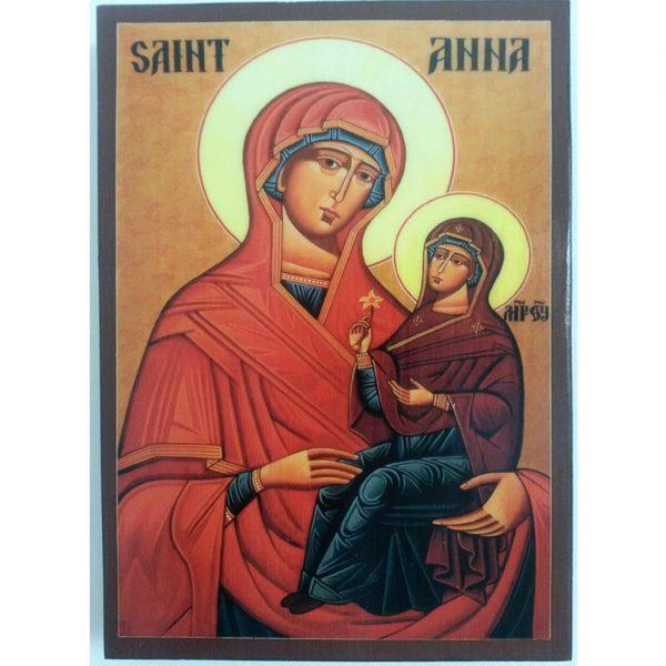 "Saint Anna, Christian Icon 8x6"" (21x15cm) - Artastate"