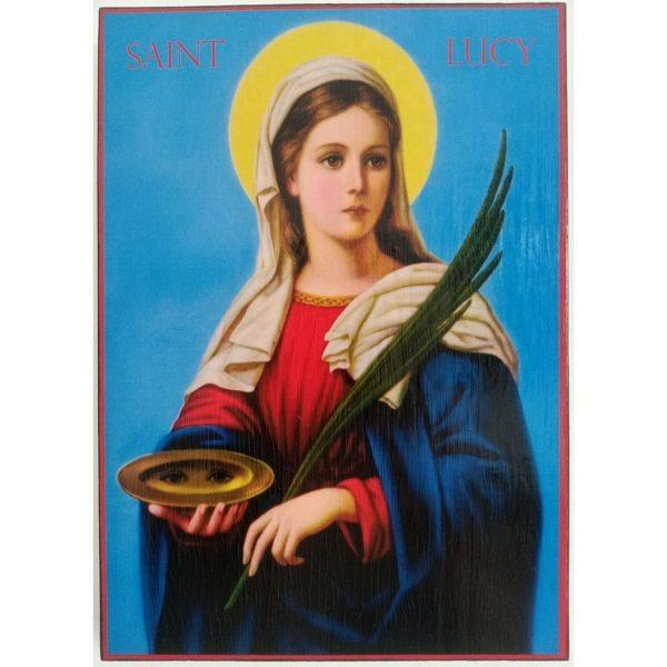 "Saint Lucy, Christian Icon 8x6"" (21x15cm) - Artastate"