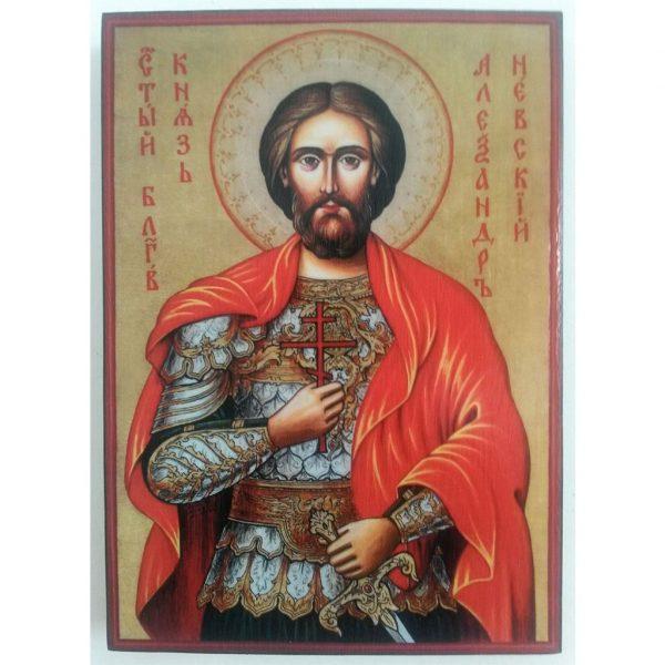 "Saint Alexander Nevsky, Christian Icon 8x6"" (21x15cm) - Artastate"