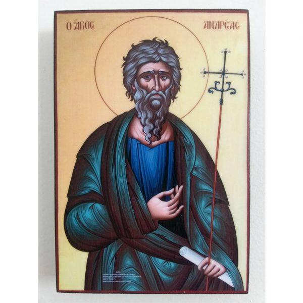 "Saint Andrew, Christian Icon 6x4"" (16x11cm) - Artastate"