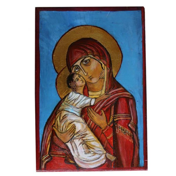 Holy Mary, Christian Icon 12x8 in / 30x20 cm