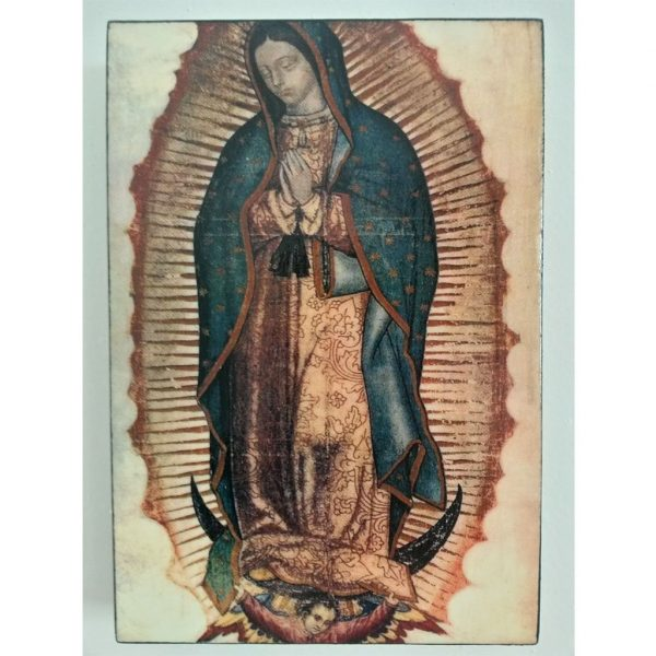 """Our Lady of Guadalupe, Christian Icon 6x4"""" (16x11cm) - Artastate"""