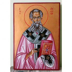 "Saint Athanasius, Christian Icon 13x9"" (32x22cm) - Artastate"