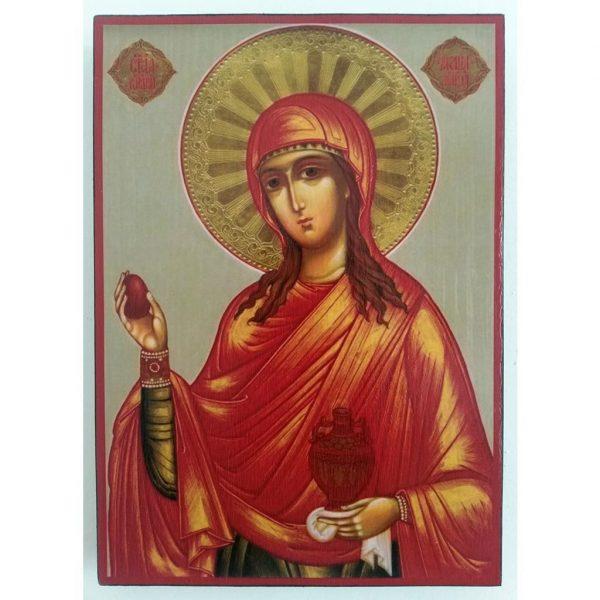 "Saint Mary Magdalene, Christian Icon 8x6"" (21x15cm) - Artastate"