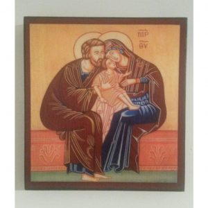 """""""The Holy Family"""" Christian Icon 6x6"""" (16x15cm)"""