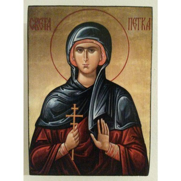 """Saint Petka"" Christian Icon 4x3"" (11x8cm)"
