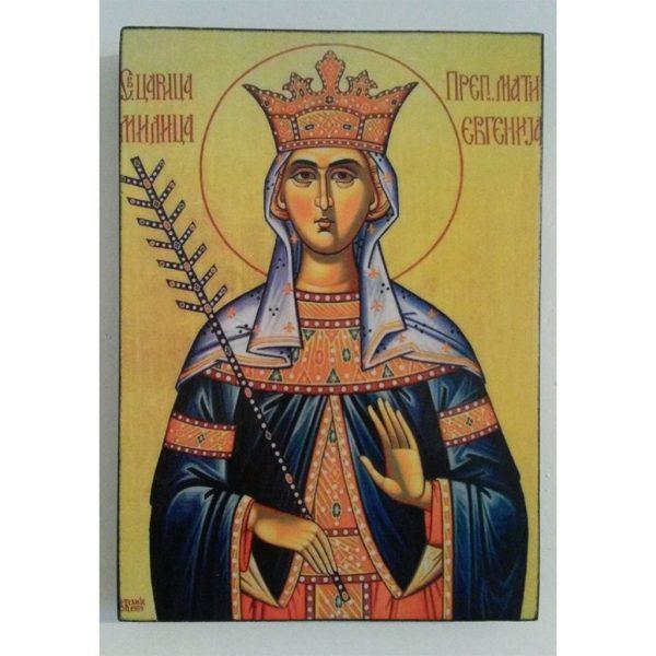 """Saint Eugenia, Christian Icon 8x6"""" (21x15cm) - Artastate"""