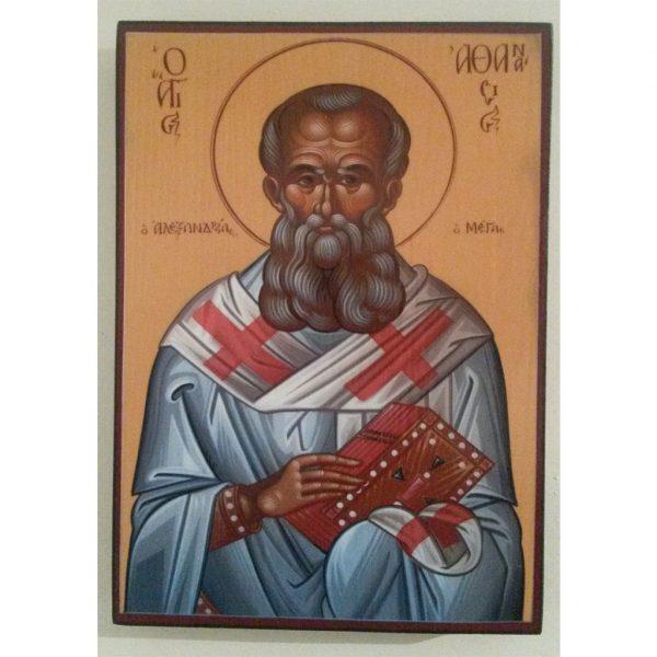 "Saint Athanasius, Christian Icon 8x6"" (21x15cm) - Artastate"