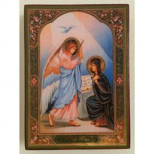 """Annunciation, Christian Icon 4x3"""" (11x8cm) - Artastate"""