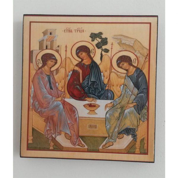 """The Holy Trinity"" Christian Icon 6x6"" (16x15cm)"