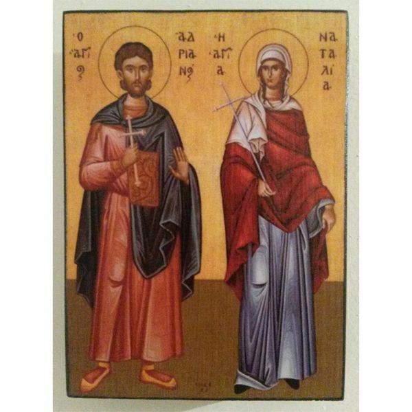 "Adrian and Natalia, Christian Icon 4x3"" (11x8cm) - Artastate"