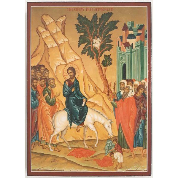 "Palm Sunday, Christian Icon 8x6"" (21x15cm)"