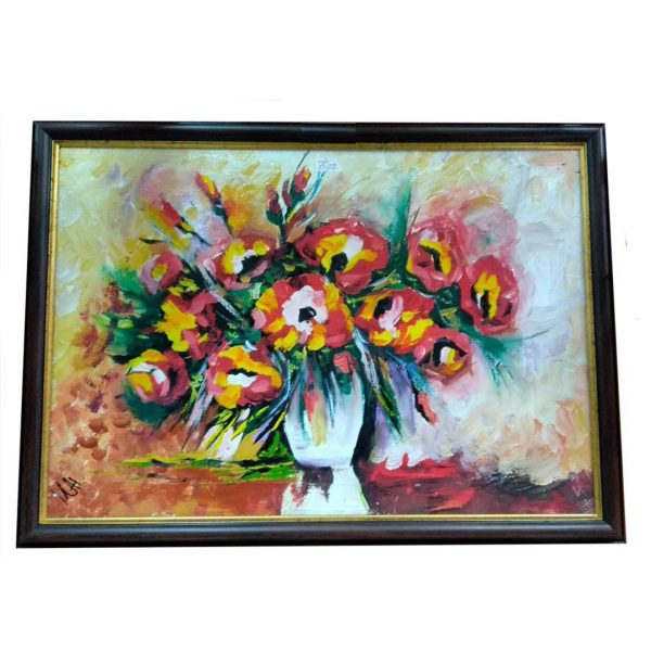 """Vase with Flowers, Mixed Painting 16x22"""" (40x55cm)"""
