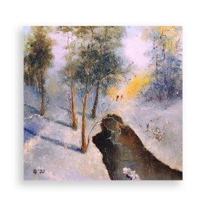 January Day, Oil Painting by Elena Velichkova