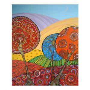 "Seasons, Acrylic Ink Painting 19x15"" (47x38cm)"