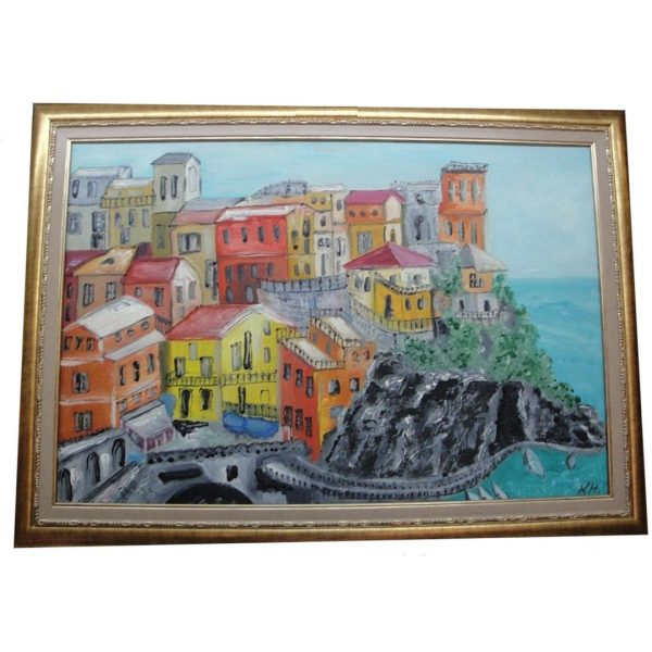 "Seaside, Oil Painting 20x28"" (50x32cm)"