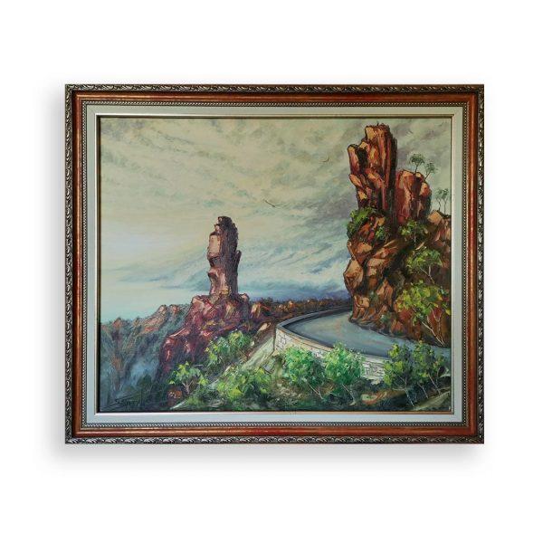 Calanches de Piana Corsica, Oil Painting by Georgi Paunov - Son