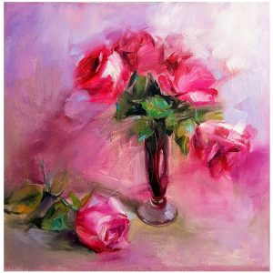 Pink Emotion, Oil Painting 16x16 in / 40x40 cm
