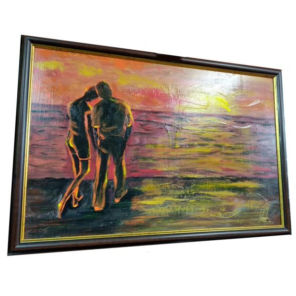 """Passion of the Sunset, Mixed Painting 18x26"""" (45x65cm)"""
