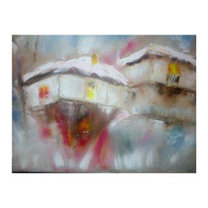 """Village, Oil Painting 20x16"""" (50x40cm)"""