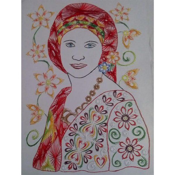 Boliarka, Handmade Embroidery 12x17 in / 30x42cm