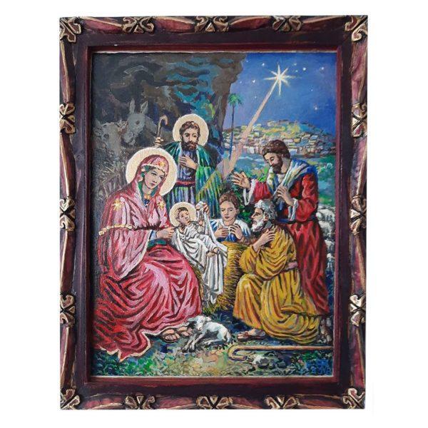 Nativity, Tempera Painting by Veselin Nikolov