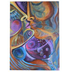 "The Magic of Love, Acrylic Painting 10x14"" (25x35cm)"