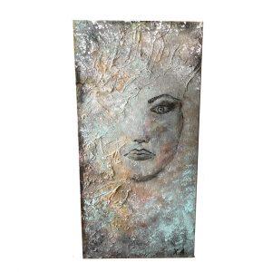 "Faceless, Acrylic Painting 24x12"" (60x30cm)"