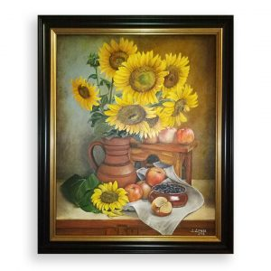 Sunflowers, Acrylic Painting by Desislava Docheva
