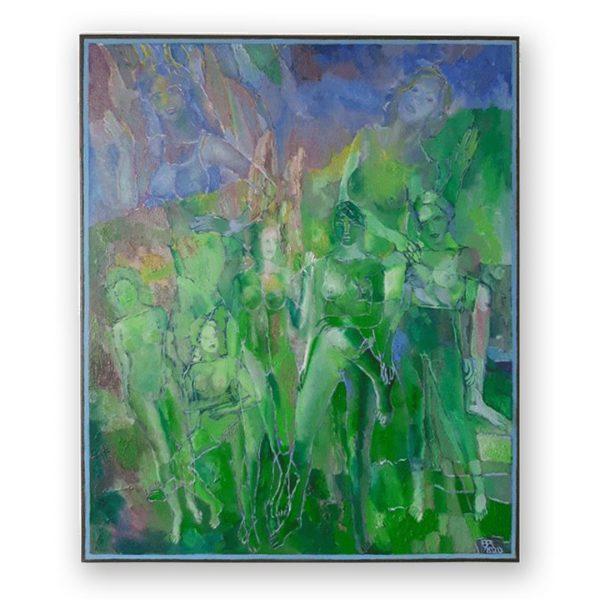 Spring Desert, Oil Painting by Veselin Nikolov
