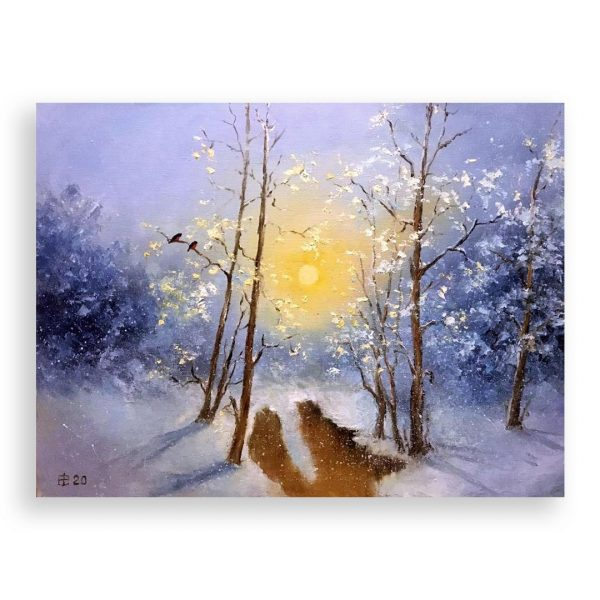 January Sun, Oil Painting by Elena Velichkova