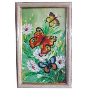"Butterflies, Oil Painting 14x8"" (36x21cm)"