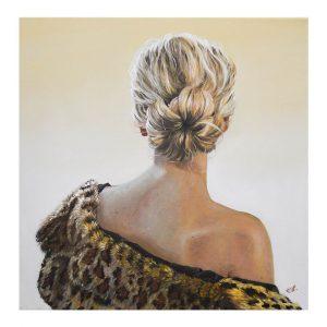 Tenderness, Oil Painting 16x16 in / 40x40 cm