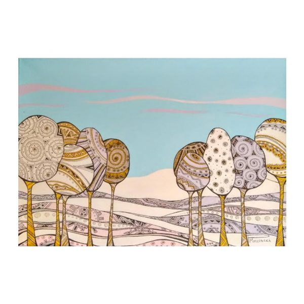 """Silence, Acrylic Ink Painting 18x13"""" (46x33cm)"""