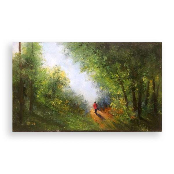 Forest Path, Oil Painting by Elena Velichkova