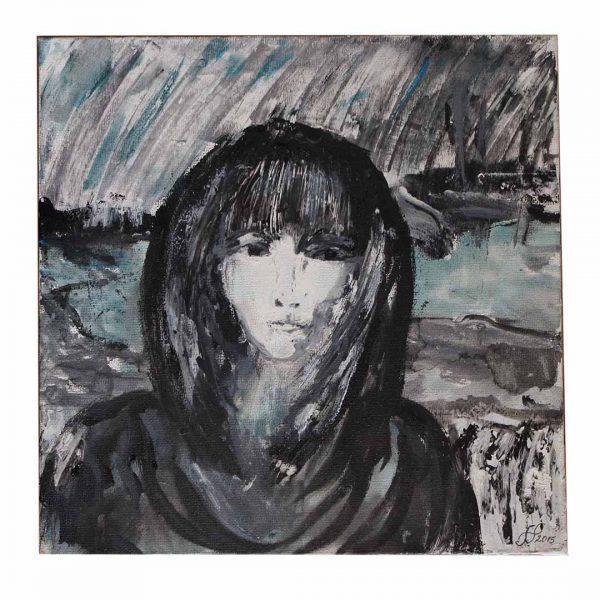 """Nostalgic, Acrylic Painting 10x10"""" (25.5x25,5cm)"""