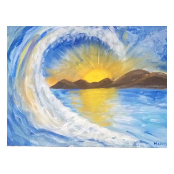 "Wave Dance, Acrylic Painting 12x16"" (30x40cm)"