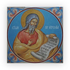 Saint Jeremy, Tempera Painted Christian Icon by Iva Donkova