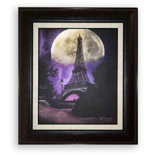 Night in Paris, Acrylic Painting by Desislava Docheva