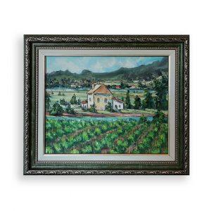 Pila-Canale Corsica, Oil Painting by Georgi Paunov - Son